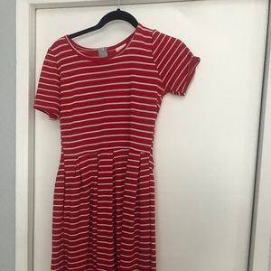 Small red and white Lularoe Amelia